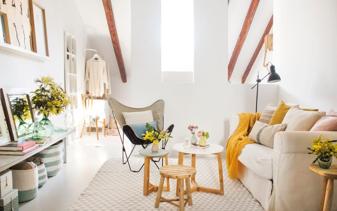 Salón pequeño de 12 m²