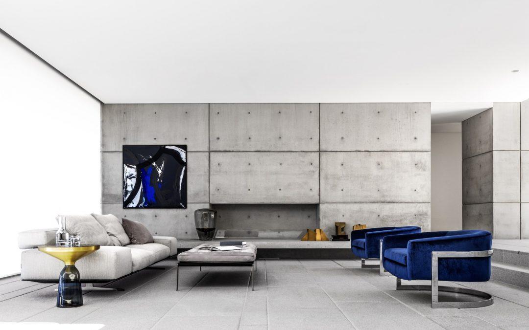 Salón mediano de 30 m²