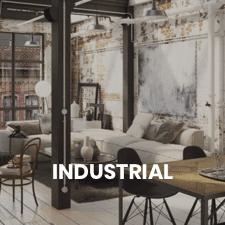un salón de estilo industrial