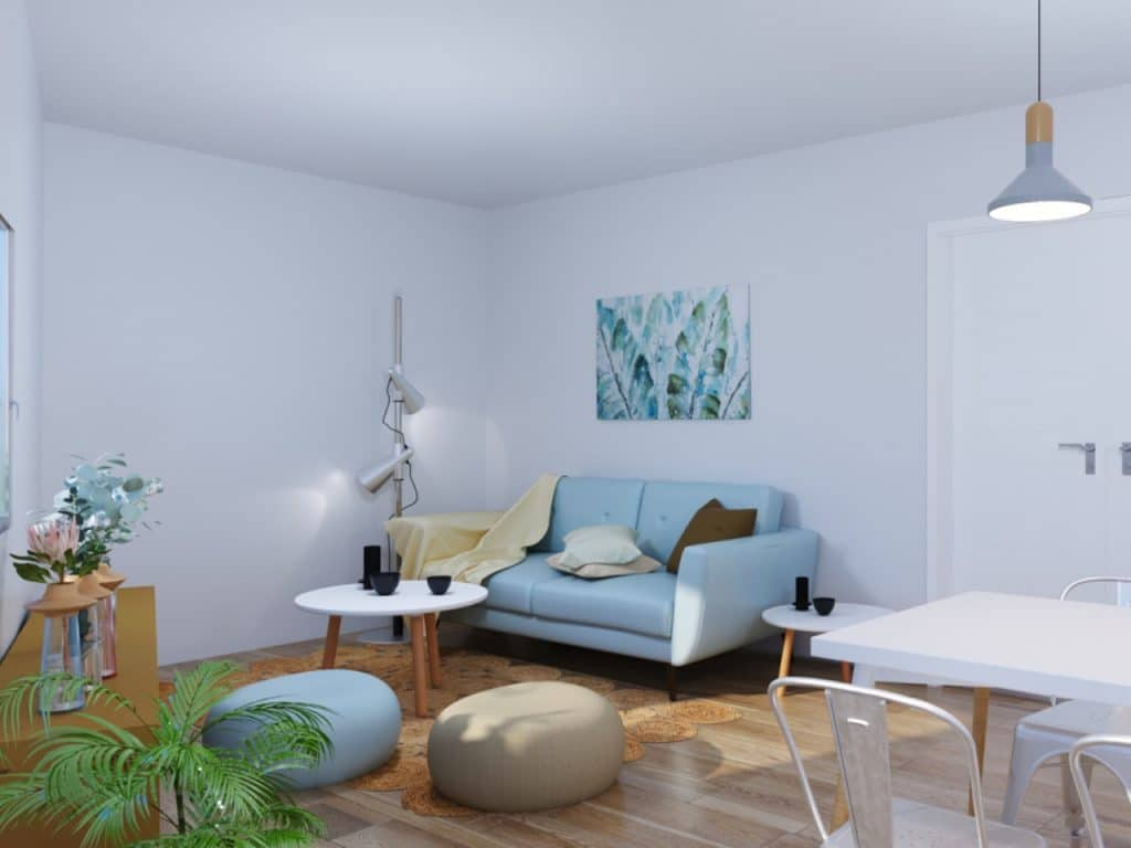 salon moderno cuadrado
